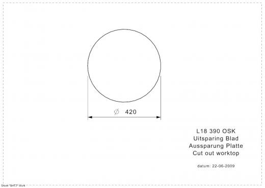 REGINOX Küchenspüle L18 390 (L) OSK Einbauspüle Edelstahl mit Flachrand Rundbecken 3 in 1 mit Gummistopfen und Kette