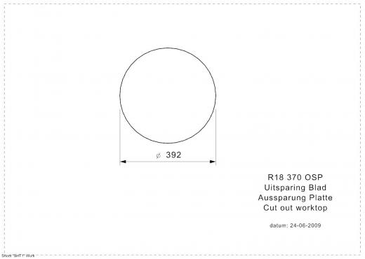REGINOX Küchenspüle R18 370 (R) OSP Einbauspüle Edelstahl mit Einbaurand Rundbecken mit Gummistopfen