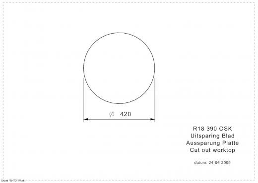 REGINOX Küchenspüle R18 390 (R) OSK Einbauspüle Edelstahl mit Einbaurand Rundbecken mit Gummistopfen und Kette