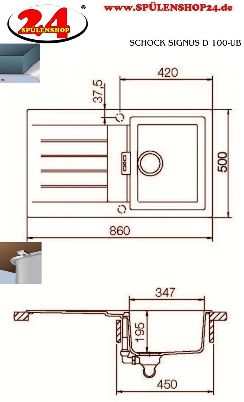 schock signus d 100 jetzt g nstig kaufen i sp lenshop24. Black Bedroom Furniture Sets. Home Design Ideas