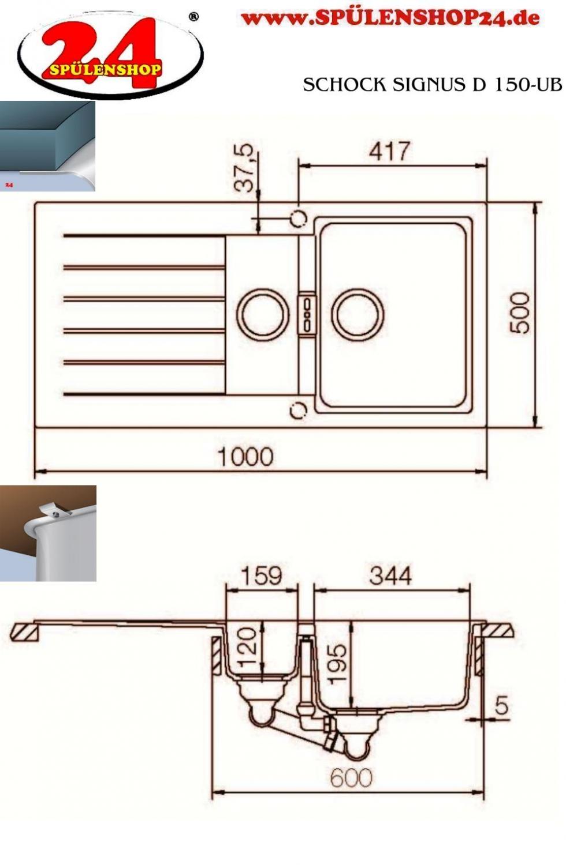schock signus d 150 jetzt g nstig kaufen i sp lenshop24. Black Bedroom Furniture Sets. Home Design Ideas