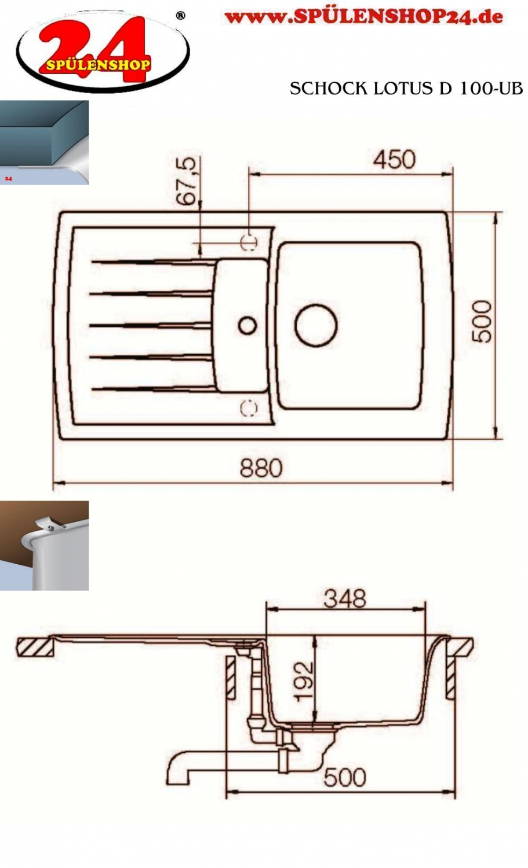 schock lotus d 100 jetzt g nstig kaufen i sp lenshop24. Black Bedroom Furniture Sets. Home Design Ideas