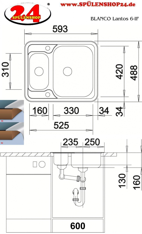 blanco lantos 6 if kaufen einbausp len g nstig online. Black Bedroom Furniture Sets. Home Design Ideas