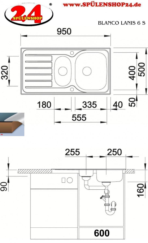 blanco lanis 6 s g nstig kaufen edelstahlsp len online. Black Bedroom Furniture Sets. Home Design Ideas