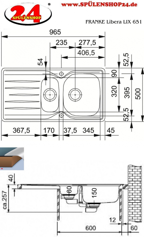 franke libera lix 651 edelstahlsp le mit drehexcenter. Black Bedroom Furniture Sets. Home Design Ideas