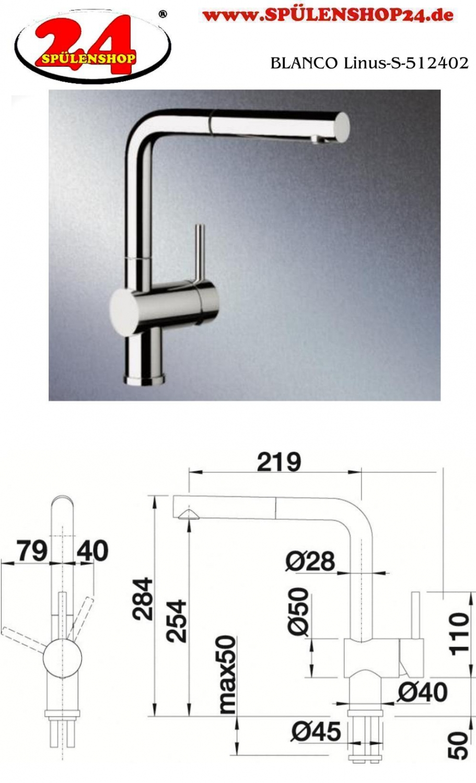 blanco linus s 512402 g nstig kaufen armaturen k che. Black Bedroom Furniture Sets. Home Design Ideas