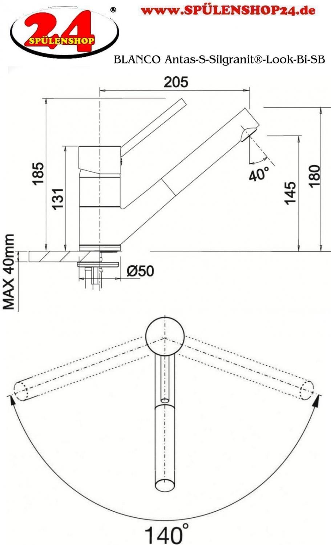 blanco antas s 515356 silgranit look bi sb k chenarmatur. Black Bedroom Furniture Sets. Home Design Ideas