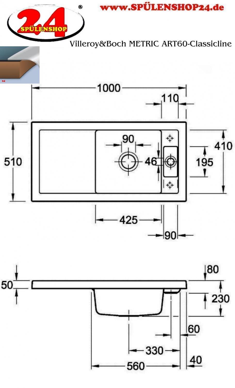 villeroy boch metric art 60 kaufen i sp lenshop24. Black Bedroom Furniture Sets. Home Design Ideas