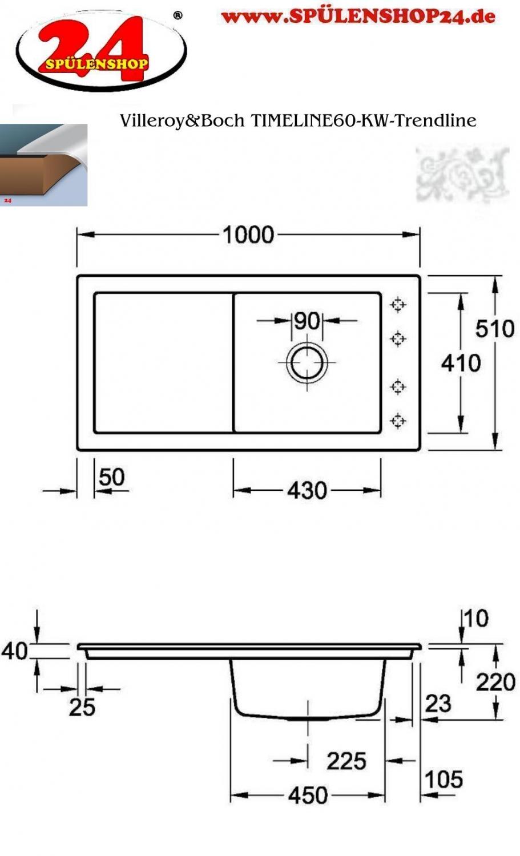 villeroy boch timeline 60 jetzt kaufen i sp lenshop24. Black Bedroom Furniture Sets. Home Design Ideas
