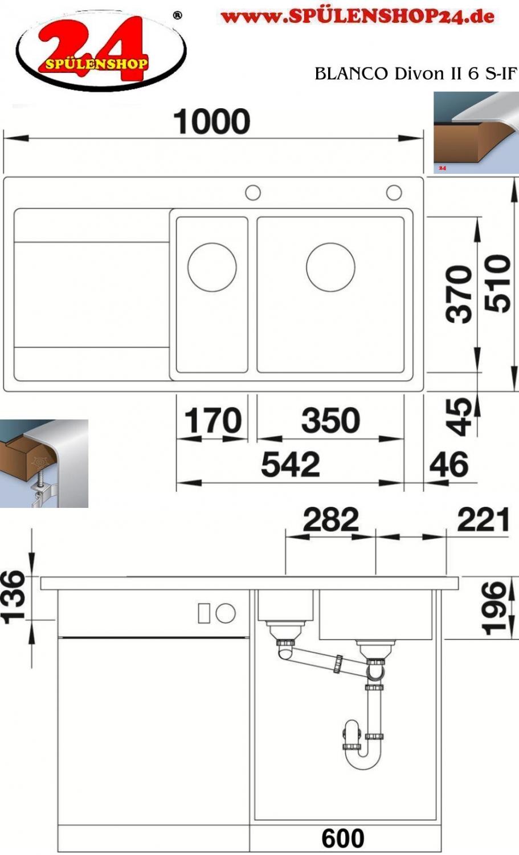 blanco divon ii 6 s if kaufen edelstahlsp len g nstig. Black Bedroom Furniture Sets. Home Design Ideas