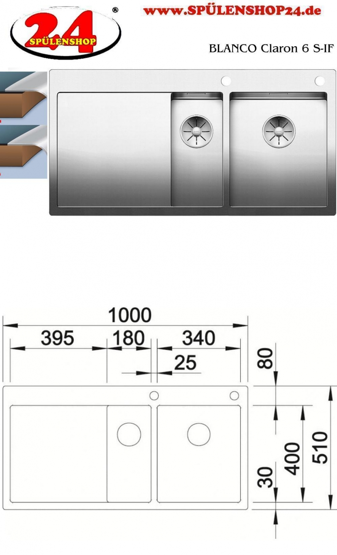 blanco claron 6 s if g nstig sp len online bestellen. Black Bedroom Furniture Sets. Home Design Ideas