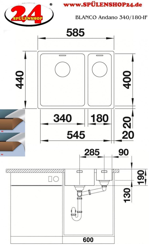blanco andano 340 180 if g nstig sp len online kaufen. Black Bedroom Furniture Sets. Home Design Ideas