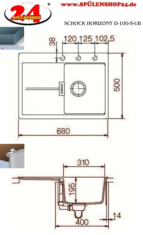 schock horizont d 100s g nstig kaufen i sp lenshop24. Black Bedroom Furniture Sets. Home Design Ideas