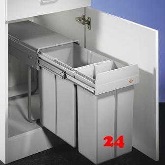naber double 3 8011112 markenprodukt der firma naber einbauabfallsammler 2 fach trennung finden. Black Bedroom Furniture Sets. Home Design Ideas