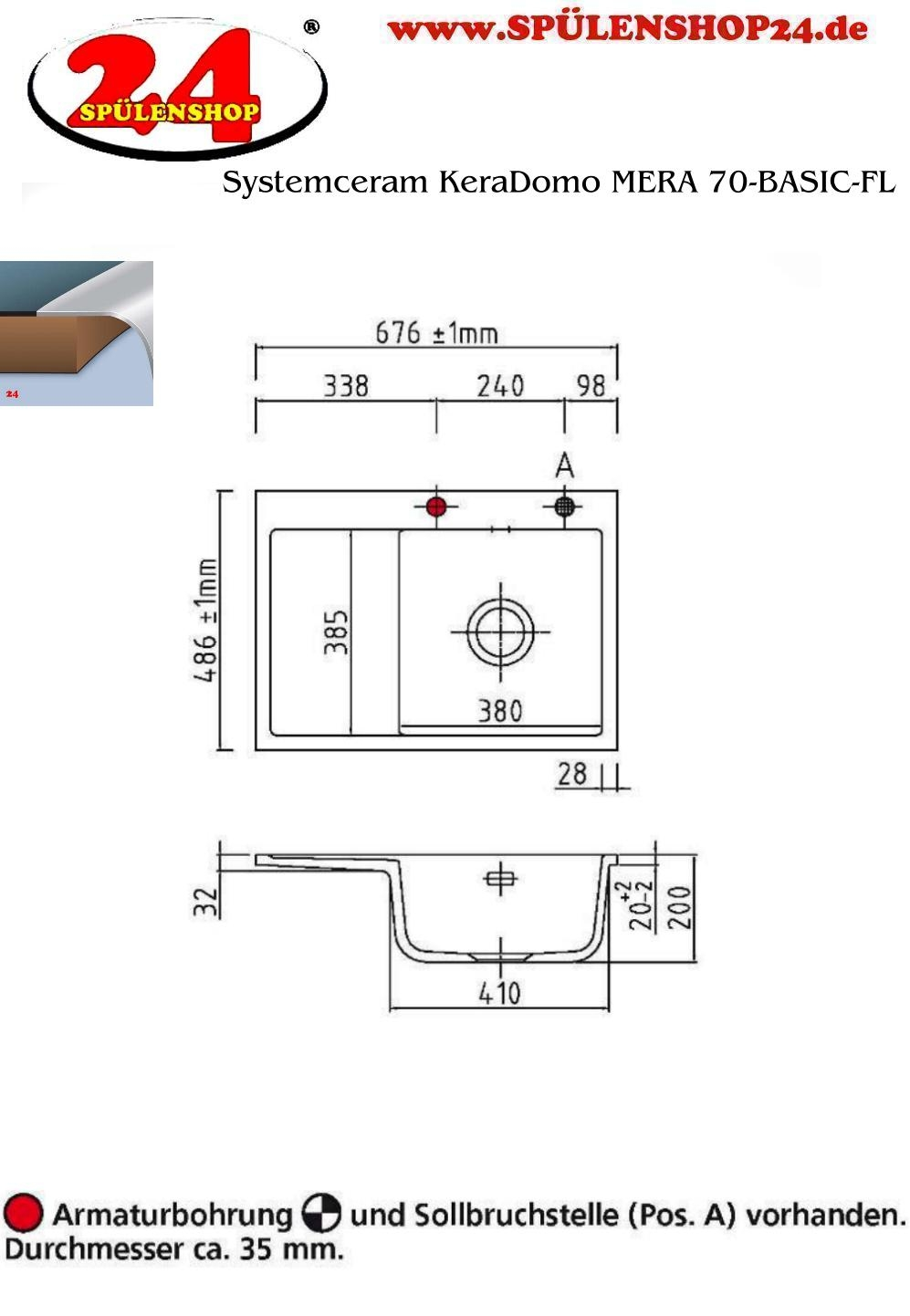 systemceram keradomo meraf70 keramiksp le fl chenb ndig. Black Bedroom Furniture Sets. Home Design Ideas