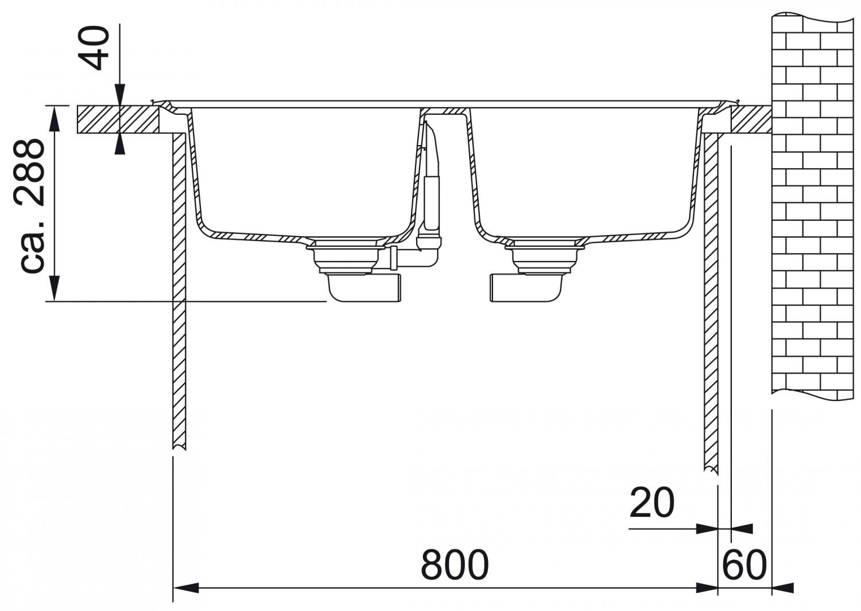 Franke Basis BFG 620 Onyx Granitspüle