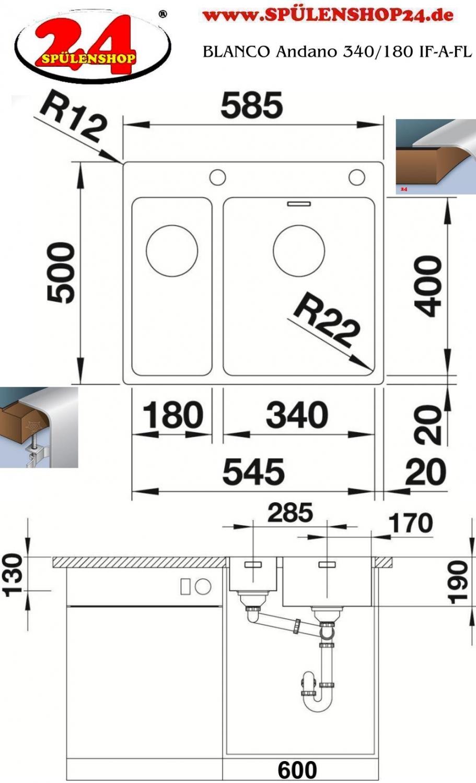 blanco andano 340 180 if a g nstig sp len online kaufen. Black Bedroom Furniture Sets. Home Design Ideas
