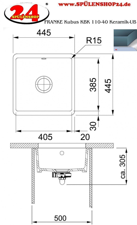 franke kubus kbk 110 40 ub keramik jetzt versandkostenfrei bestellen im sp lenshop24. Black Bedroom Furniture Sets. Home Design Ideas