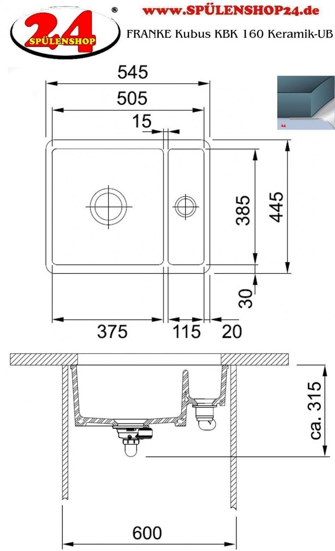 franke kubus kbk 160 ub keramik jetzt versandkostenfrei bestellen im sp lenshop24. Black Bedroom Furniture Sets. Home Design Ideas