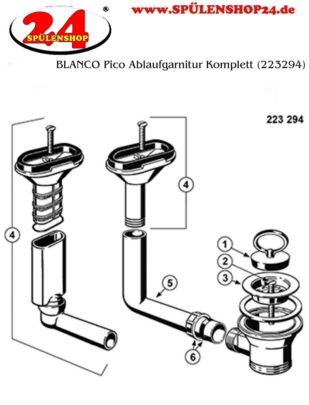 Blanco Pico Ablaufgarnitur Komplett 223294 Kaufen