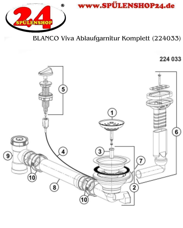 Blanco Viva Ablaufgarnitur Komplett 224033 Bestellen