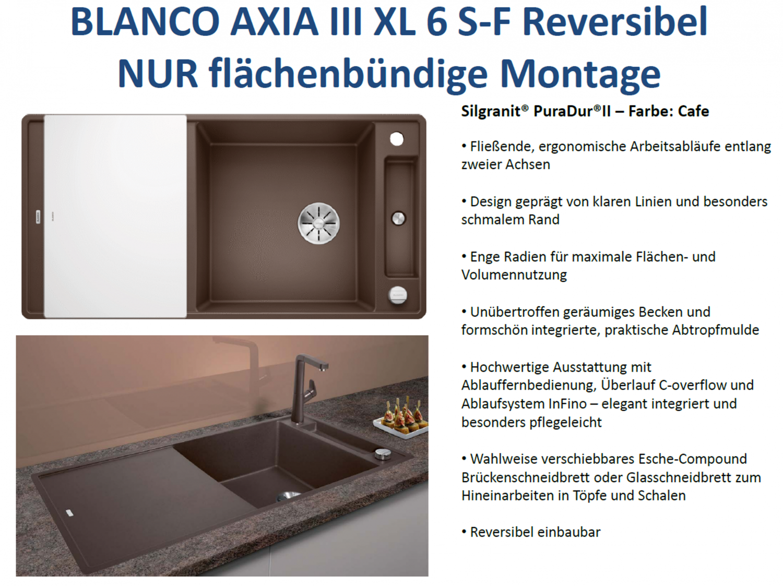 Blanco Axia Iii Xl 6 S F Gunstig Silgranit Spule Kaufen