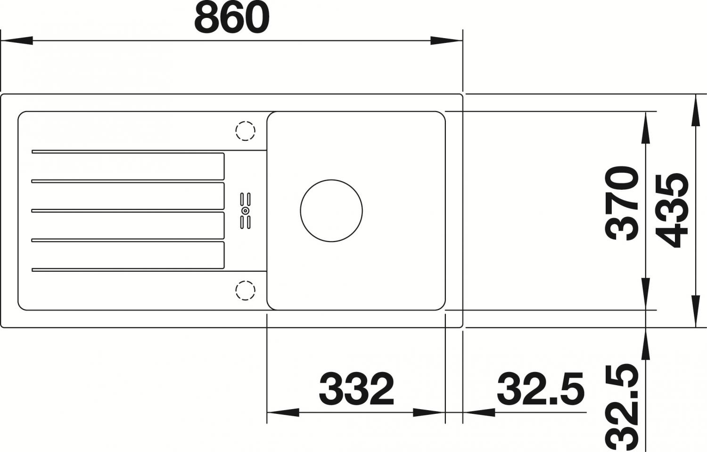 Moderne Einbausp/üle aus SILGRANIT braun 524232 BLANCO FAVUM 45 S Einsteigermodell f/ür 45 cm breite Unterschr/änke