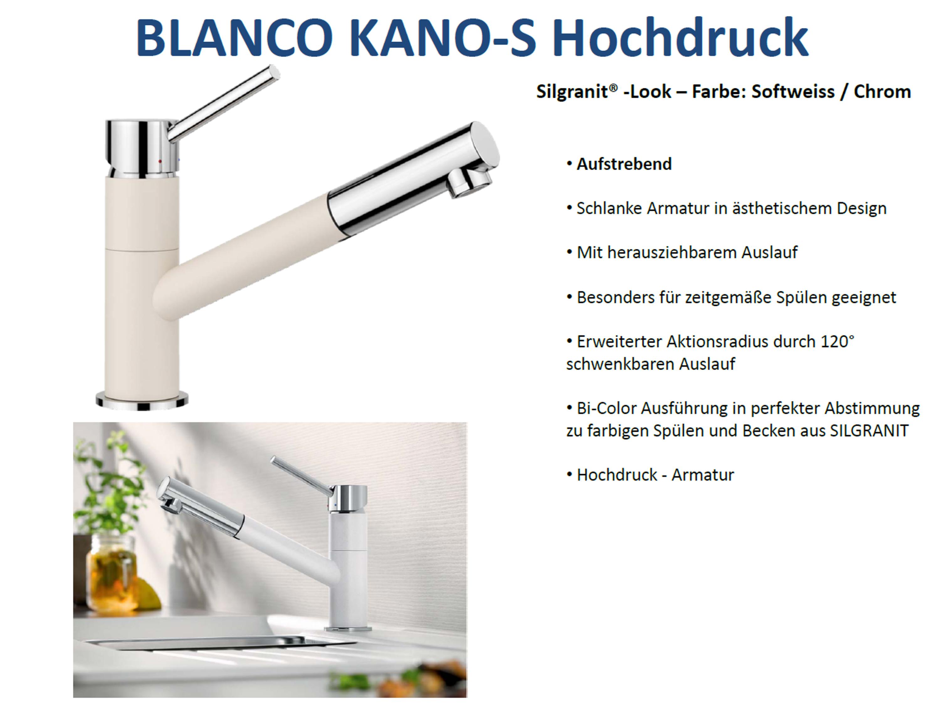 Blanco Kano S Silgranit Look Online Kaufen Spulenshop24