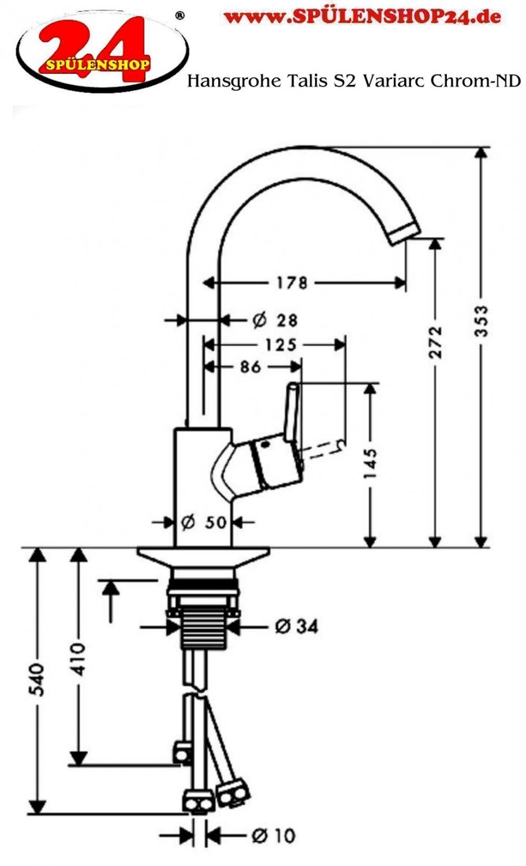 modell hansgrohe talis s2 variac 14873 000 markenprodukt. Black Bedroom Furniture Sets. Home Design Ideas
