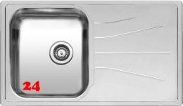 REGINOX Küchenspüle Diplomat 10 LUX Einbauspüle / Edelstahlspüle Siebkorb als Stopfenventil