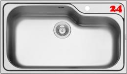 PYRAMIS Küchenspüle Titan (86x50) 1B Einbauspüle / Edelstahlspüle Siebkorb als Stopfenventil