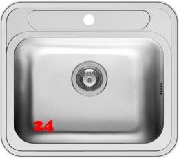 PYRAMIS Küchenspüle Atria (57,5x50,5) 1B Einbauspüle / Edelstahlspüle Siebkorb als Stopfenventil