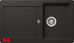 Schock Küchenspüle Typos D-100 Cristalite® Granitspüle / Einbauspüle Basic Line in 4 Farben mit Drehexcenter