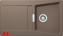 {Lager} SCHOCK Opus D-100 Cristadur® Nano-Granitspüle / Einbauspüle Farbe Earth mit Drehexcenter