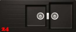 SCHOCK Küchenspüle Signus D-200 Cristadur® Nano-Granitspüle / Einbauspüle in 4 Farben mit Drehexcenter
