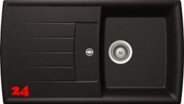 SCHOCK Küchenspüle Lotus D 100 Cristadur® Nano-Granitspüle / Einbauspüle in 8 Farben mit Drehexcenter