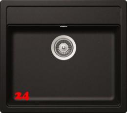 SCHOCK Mono N-100-FL Cristadur® Nano-Granitspüle flächenbündig in 4 Farben mit Drehexcenter