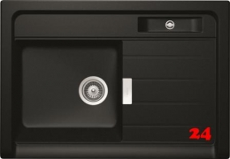 SCHOCK Küchenspüle Grando M-100 Cristadur® Nano-Granit Spülstein / Spülmodul in 3 Farben mit Drehexcenter