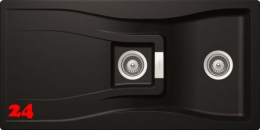 SCHOCK Küchenspüle Waterfall D-150 Cristadur® Nano-Granitspüle / Einbauspüle in 9 Farben mit Drehexcenter