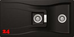 SCHOCK Küchenspüle Waterfall D-150-FB Cristadur® Nano-Granitspüle flächenbündig in 4 Farben mit Drehexcenter