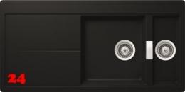 SCHOCK Küchenspüle Horizont D 150 Cristadur® Nano-Granitspüle / Einbauspüle in 8 Farben mit Drehexcenter