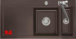 Systemceram KeraDomo MERA 100 Basic Keramikspüle / Einbauspüle in Standardfarben für die Küche