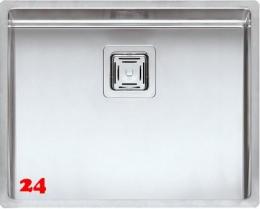 REGINOX Texas 50x40 Einbauspüle Edelstahl 3 in 1 mit Flachrand Siebkorb als Stopfenventil