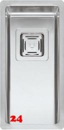 REGINOX Küchenspüle Texas 18x40 OKG Einbauspüle Edelstahl 3 in 1 mit Flachrand Siebkorb als Stopfenventil