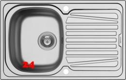 PYRAMIS Küchenspüle Sparta (79x50) 1B 1D Einbauspüle / Edelstahlspüle Siebkorb als Drehknopfventil
