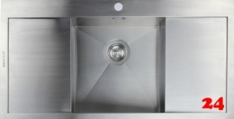 {Lager} BERNUS Cubixx 1000 Edelstahlspüle / Küchenspüle Null Radius Siebkorb als Stopfenventil
