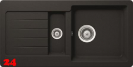 SCHOCK Küchenspüle TYPOS D-150S Cristalite® Granitspüle / Einbauspüle Basic Line in 4 Farben mit Drehexcenter
