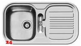 PYRAMIS Küchenspüle Mars (86x48) 1B 1D Einbauspüle / Edelstahlspüle Siebkorb als Drehknopfventil