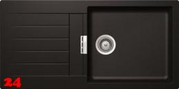 SCHOCK Küchenspüle Signus D-100L Cristadur® Nano-Granitspüle / Einbauspüle in 8 Farben mit Drehexcenter