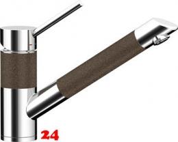 SCHOCK Küchenarmatur SC-200 Cristadur® Classic Line Einhebelmischer Zugauslauf 120° schwenkbarer Auslauf mit Materialhülse und Schlauchbrause in 9 Farben